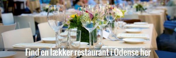 Knap til restauranter i Odense